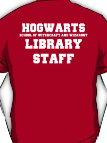 Hogwarts Witchcraft and Wizardry Library Staff T-Shirt
