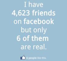 real vs fake Facebook friends by kevincease