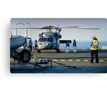 Hands to flying Stations! Canvas Print