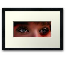 These Eyes Framed Print