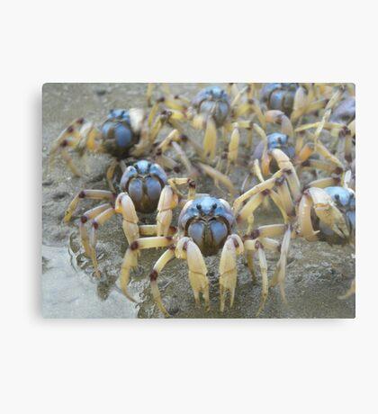 Crab Army Metal Print