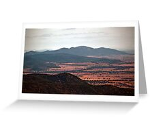 View from Mt Kaputar, NSW, Australia Greeting Card