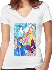 Last Unicorn Women's Fitted V-Neck T-Shirt