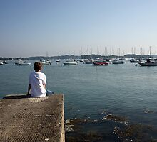 Sea Wall, Port Blanc, Golfe du Morbihan by Liz Garnett