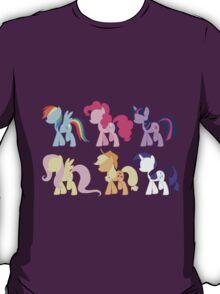 My Little Pony Friendship is Magic: Silhouette Art T-Shirt