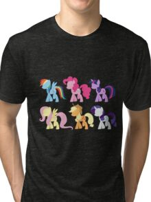 My Little Pony Friendship is Magic: Silhouette Art Tri-blend T-Shirt