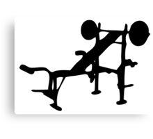 Weight Bench Canvas Print