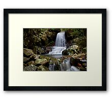 Terraced Waterfall Framed Print