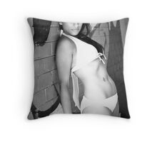 Two tone, two piece Throw Pillow