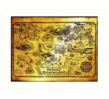 Hyrule Map Legend of Zelda Art Print