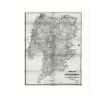 Civil WarMap Battlefield of Chickamauga September 19-20, 1863 Art Print