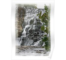 Ithaca Falls in early fall Poster