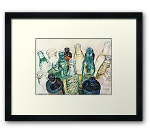 Old Bottles Framed Print