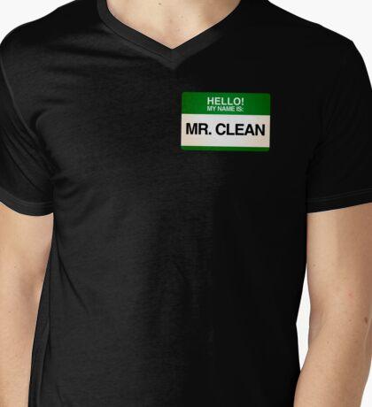 NAMETAG TEES - MR. CLEAN Mens V-Neck T-Shirt