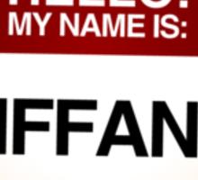 NAMETAG TEES - TIFFANY Sticker
