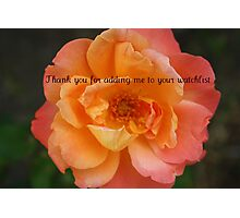thank you banner Photographic Print