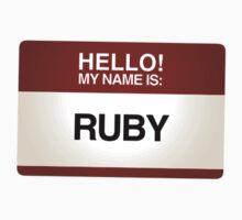 NAMETAG TEES - RUBY by webart