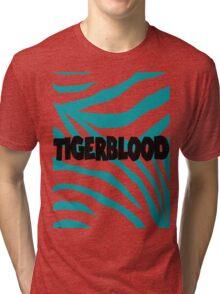 Tigerblood Blue Tri-blend T-Shirt