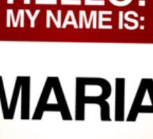 NAMETAG TEES - MARIA Sticker