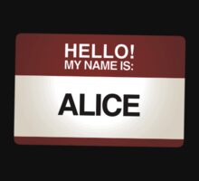 NAMETAG TEES - ALICE by webart