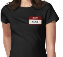 NAMETAG TEES - ALICE Womens Fitted T-Shirt