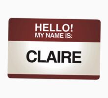 NAMETAG TEES - CLAIRE by webart