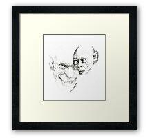 Gollum study Framed Print