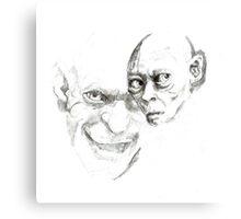 Gollum study Canvas Print