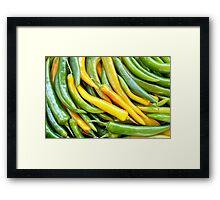 Green hot pepper chile Framed Print