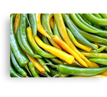 Green hot pepper chile Canvas Print