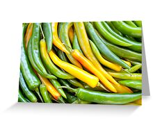 Green hot pepper chile Greeting Card