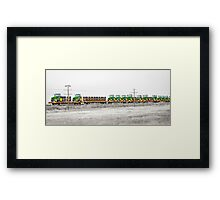 Trained Deere Framed Print