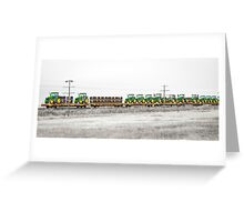 Trained Deere Greeting Card