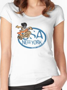 usa new york tshirt by rogers bros co Women's Fitted Scoop T-Shirt