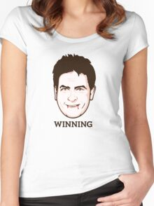 Charlie Sheen - Faces Of Awesome Women's Fitted Scoop T-Shirt