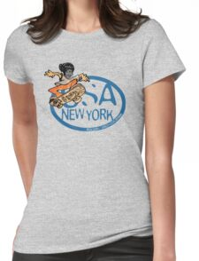 usa new york tshirt by rogers bros co Womens Fitted T-Shirt