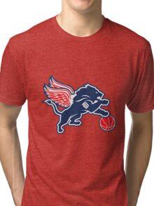 detroit tigers lions logo Tri-blend T-Shirt