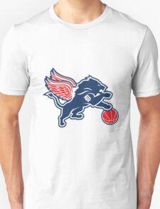 detroit tigers lions logo Unisex T-Shirt