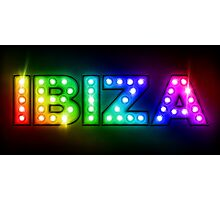 Ibiza in Lights Photographic Print
