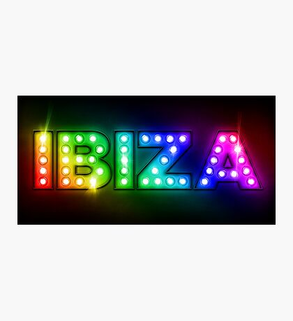 Ibiza in Lights Photographic Print