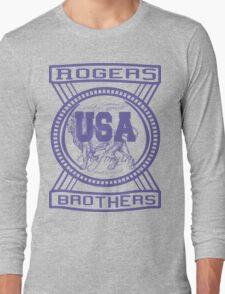 usa california hoodie by rogers bros co Long Sleeve T-Shirt