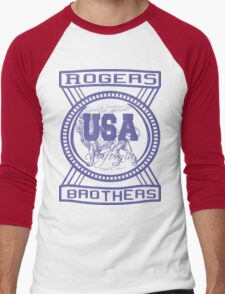 usa california hoodie by rogers bros co Men's Baseball ¾ T-Shirt