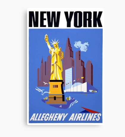 New York Vintage Travel Poster Canvas Print