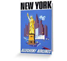 New York Vintage Travel Poster Greeting Card