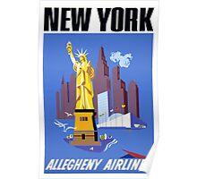 New York Vintage Travel Poster Poster