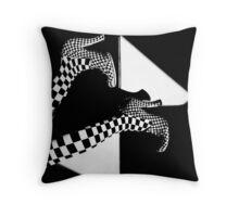 BLACK OR WHITE Throw Pillow