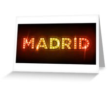 Madrid in Lights Greeting Card