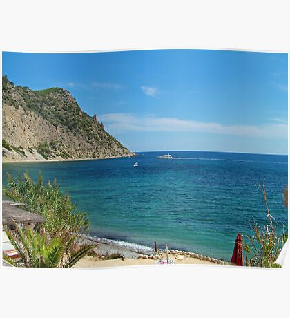 Ibiza Blue Poster