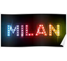 Milan in Lights Poster