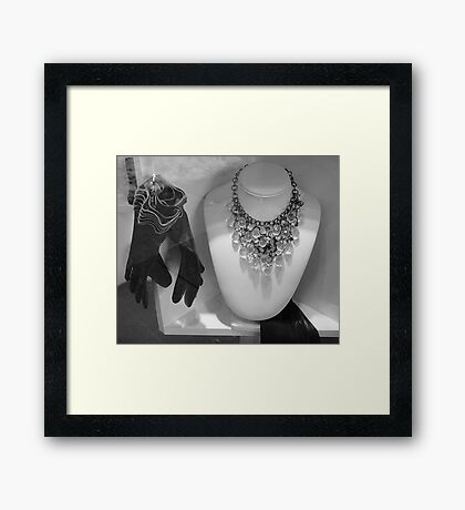 Shadows In The Window Framed Print
